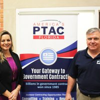 Ashley Green, Patriot Government Partners and Steve South, Florida PTAC at UCF